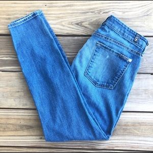 7 For All Mankind patchwork skinny jeans, size 30